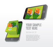 Недвижимость app на smartphones Стоковые Фотографии RF