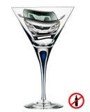 Не выпейте спирт пока управляющ Стоковые Фото