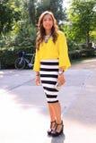 Неделя моды Амстердама моды улицы Стоковое Фото