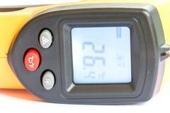 Не желтый цвет цифрового термометра контакта ультракрасный Стоковые Изображения