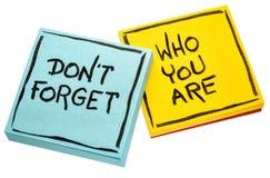 Не забудьте кого вы стоковые фото
