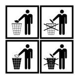 Не засоряйте знак установленный на белую предпосылку Стоковая Фотография RF