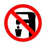 Не знак вектора питьевой воды стоковая фотография