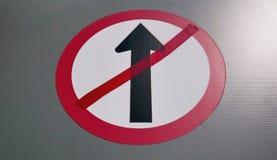 Не идет прямой знак Стоковые Фотографии RF