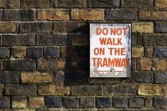 Не идите на трамвайную линию Стоковые Фото