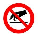 не коснитесь Знак запрета и безопасности иллюстрация вектора