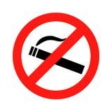 Не курите вектор знака запрета Стоковая Фотография RF
