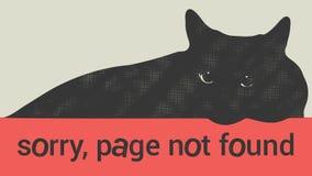 Не найденная страница ошибки 404 Стоковая Фотография