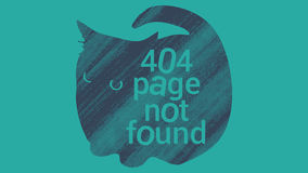 Не найденная страница ошибки 404 Стоковое Изображение