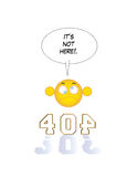 не найденная страница 404 Стоковая Фотография RF