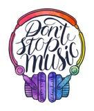 Не остановите music-02 Стоковая Фотография RF