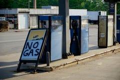 Недостаток газа стоковое изображение rf