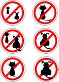 Не подпишите никаких котов и собаки Стоковые Изображения RF