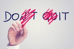 Не прекратите - сделайте его Стоковые Изображения RF