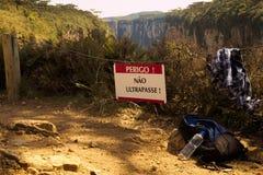 Не пройдите знак около доски canion Стоковые Изображения