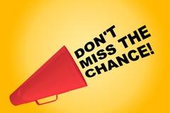 Не пропустите шанс! концепция бесплатная иллюстрация