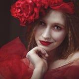 Не проснитесь спать демон Женский портрет ethno Стоковые Изображения RF