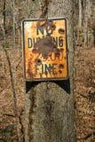 не сбрасывающ никакой vandalized знак Стоковая Фотография RF