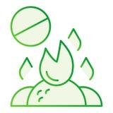 Не сгорите ненужный плоский значок Горя значки запрета отброса серые  иллюстрация штока