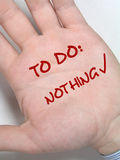 не сделайте ничего к Стоковое Фото