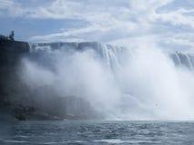 Ниагарский Водопад на границе между США и Канадой Стоковое Изображение