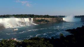 Ниагарский Водопад Lke, сценарное, перемещение акции видеоматериалы