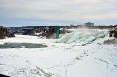 Ниагарский Водопад, Онтарио, Канада - 9-ое марта 2015 Стоковые Изображения