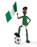 нигерийский футбол игрока иллюстрация вектора