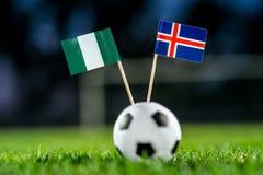 Нигерия - Исландия, группа d, Friday, 22 Футбол -го июнь, Cu мира стоковое фото rf