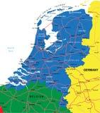Нидерландская карта Стоковая Фотография