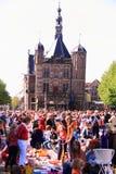 нидерландская queensday улица места Стоковое Изображение