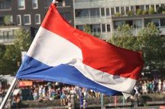 Нидерландский флаг Стоковая Фотография