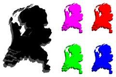 Нидерланды карты 3d Стоковые Изображения RF