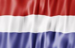 Нидерланды флага Стоковое Изображение