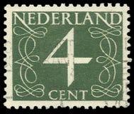 Нидерланды, штемпель, номера, цифр Стоковое фото RF