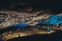 нижнее зеркало не Россия озера kungur подземелья видимая Стоковые Изображения