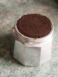 Нижнее основание бака кофе эспрессо верхней части плиты Cafetiere Ла Стоковые Изображения RF