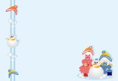 нижние братья играя снежок Стоковая Фотография
