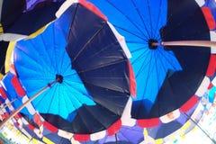 Нижний взгляд зонтика пляжа Стоковые Изображения RF