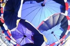 Нижний взгляд зонтика пляжа Стоковая Фотография RF