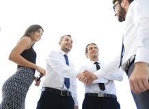 Нижний взгляд коллеги дела рукопожатия Стоковое Изображение