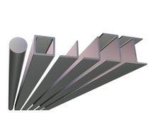 нижний взгляд крена металла Стоковое фото RF