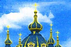 Нижний взгляд собора. иллюстрация вектора