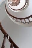 Нижний взгляд спиральные лестницы Стоковое Изображение RF