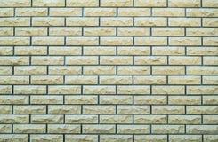 нижний желтый цвет стены верхней части текстуры коричневого цвета кирпича Стоковое Изображение RF