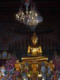 Нижний свет с статуей Будды золота от Таиланда Стоковая Фотография RF