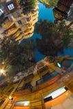 Нижний сферически взгляд зданий Стоковые Фотографии RF