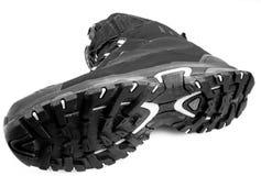 Нижний черный Hiking ботинок Стоковые Изображения