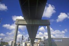 Нижняя сторона скоростного шоссе, Индианаполиса, Индианы стоковая фотография rf