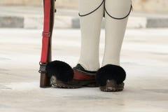 Нижняя часть (деревенский ботинок) Evzone Стоковое Изображение